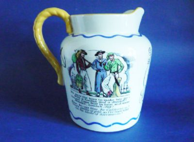 Unusual Royal Doulton Nautical Series 'Sea Shanty' Jug c1935